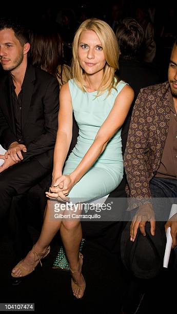 Claire Danes during the Narciso Rodriguez Spring 2011 fashion show during Mercedes-Benz Fashion Week at The Theater at Lincoln Center on September...