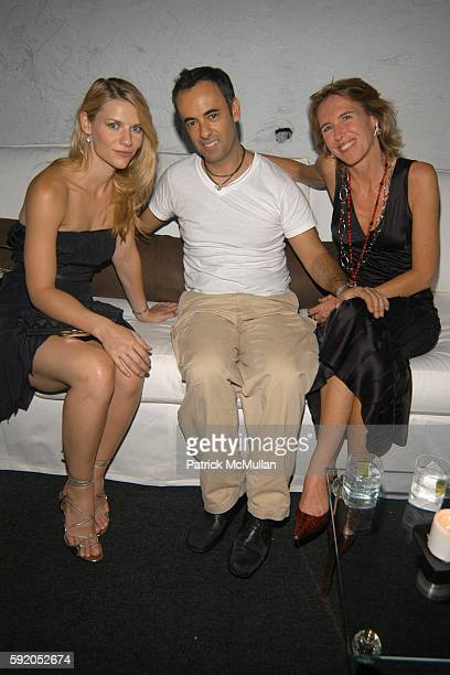 Claire Danes Francisco Costa and Francesca Romana attend Afterparty for the CALVIN KLEIN Spring 2006 Collection and Launch of EUPHORIA at Club...
