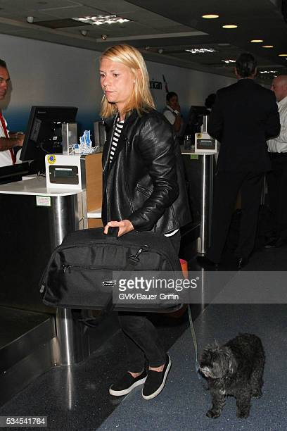 Claire Danes is seen at LAX on May 26, 2016 in Los Angeles, California.