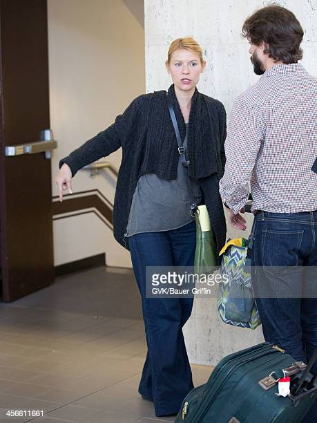 Claire Danes is seen at Los Angeles International Airport on July 30 2013 in Los Angeles California