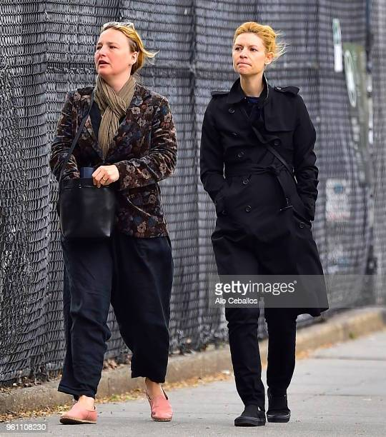 Claire Danes is seen in Soho on May 21 2018 in New York City