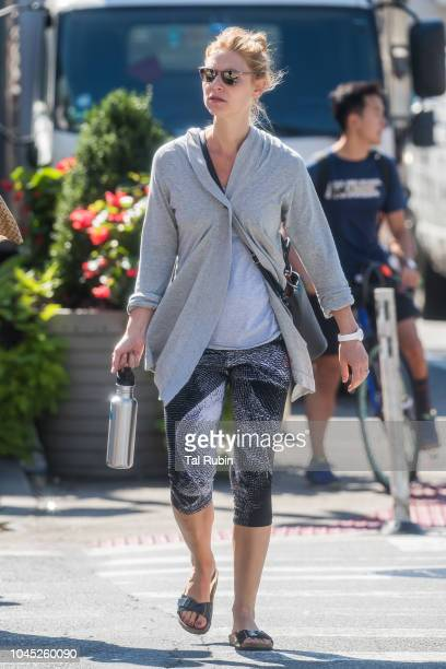 Claire Danes is seen on October 3 2018 in New York City