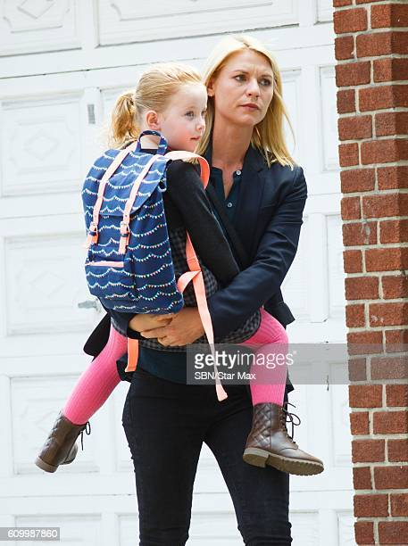 Claire Danes is seen on the set of Homeland on September 23 2016 in New York City