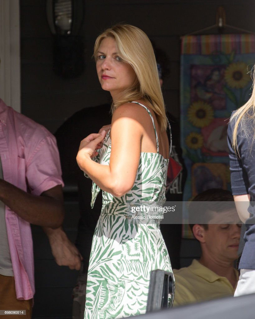 Claire Danes is seen shooting 'A Kid Like Jake' on June 19, 2017 in New York City