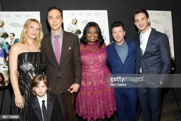 Claire Danes Jim Parsons Octavia Spencer Leo James Davis director Silas Howard and screenwriter Daniel Pearle attend the A Kid Like Jake New York...