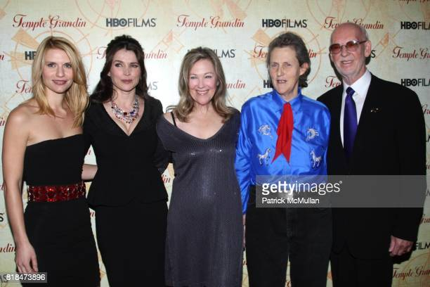 Claire Danes Julia Ormond Catherine O'Hara Dr Temple Grandin and Mick Jackson attend HBO FILMS Host the New York Premiere of TEMPLE GRANDIN at Time...