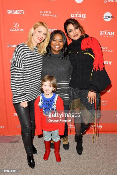 Claire Danes Leo James Davis Octavia Spencer and Priyanka Chopra attend the 'A Kid Like Jake' Premiere during the 2018 Sundance Film Festival at...