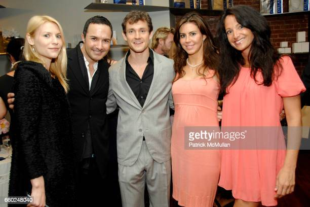 Claire Danes Matin Maulawizada Hugh Dancy Melissa Foss and Emma SnowdonJones attend ORLANE Paris Cocktail to Benefit AFGHAN HANDS in Honor of NAZ...