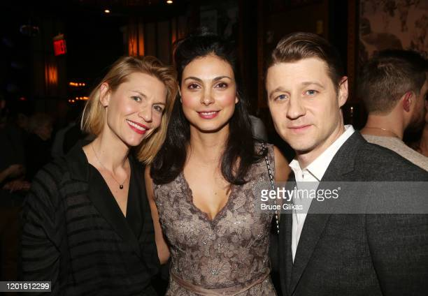 Claire Danes Morena Baccarin and Ben McKenzie pose at the opening night after party for the new Second Stage play Grand Horizons on Broadway at The...