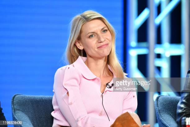 """Claire Danes of """"Homeland"""" speaks during the Showtime segment of the 2020 Winter TCA Press Tour at The Langham Huntington, Pasadena on January 13,..."""