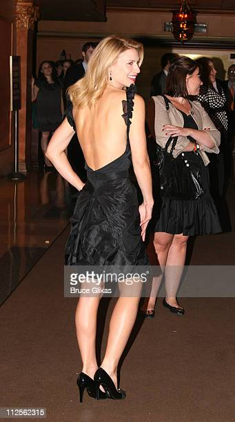 """Claire Danes poses after making her Broadway debut in The Revival of """"Pygmalion"""" at The American Airlines Theater on October 18, 2007 in New York..."""