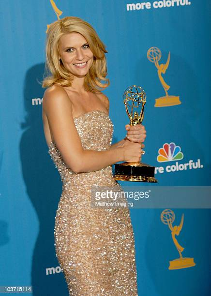Claire Danes poses in the press room at the 62nd Annual Primetime Emmy Awards held at the JW Marriott Los Angeles at LA Live on August 29 2010 in Los...