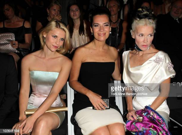 Claire Danes Roberta Armani and Daphne Guinness attend the Giorgio Armani show as part of the Paris Haute Couture Fashion Week Fall/Winter 2011...
