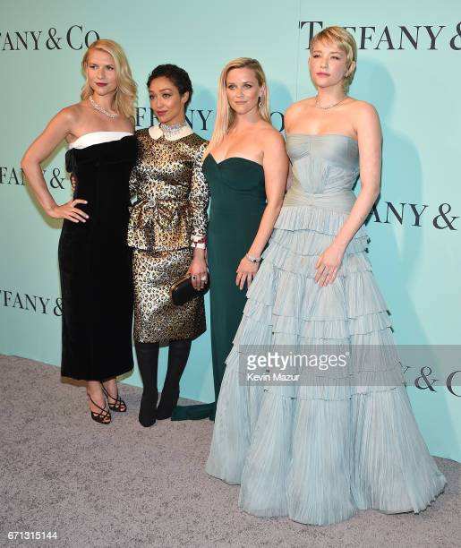 Claire Danes Ruth Negga Reese Witherspoon and Haley Bennett attend Tiffany Co Celebrates The 2017 Blue Book Collection at ST Ann's Warehouse on April...