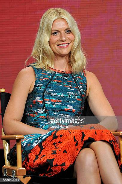 Claire Danes speaks onstage at the 'Homeland' panel discussion during the SHOWTIME portion of the 2016 Television Critics Association Summer Tour at...