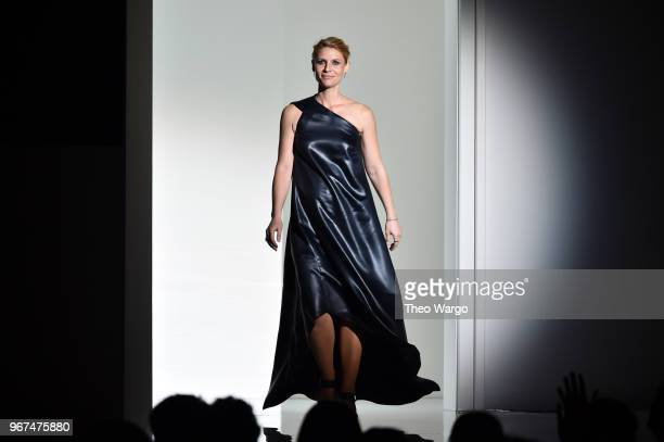 Claire Danes speaks onstage during the 2018 CFDA Fashion Awards at Brooklyn Museum on June 4 2018 in New York City