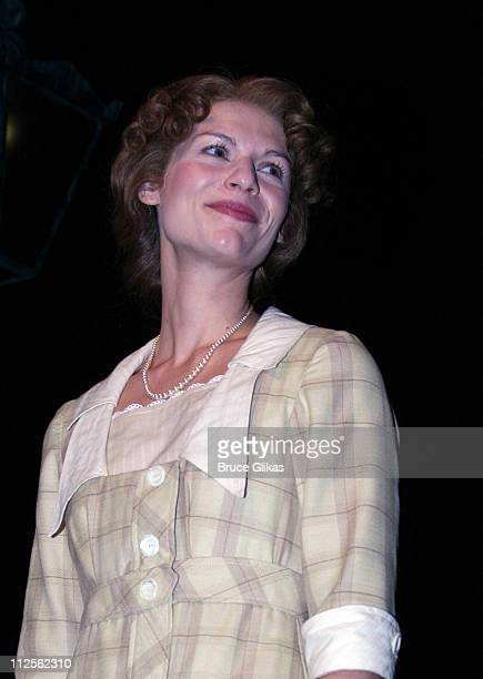 """Claire Danes takes her curtain call as she makes her Broadway Debut in The Revival of """"Pygmalion"""" on Broadway on Opening Night October 18, 2007 at..."""