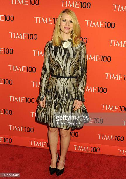 Claire Danes wearing Lanvin attends the 2013 Time 100 Gala at Frederick P Rose Hall Jazz at Lincoln Center on April 23 2013 in New York City