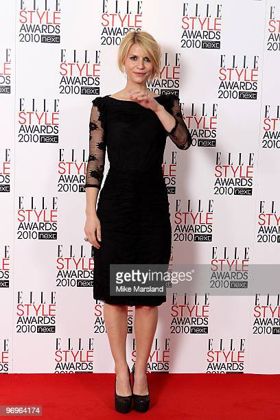 Claire Dannes in the Winner's room at the ELLE Style Awards 2010 at the Grand Connaught Rooms on February 22, 2010 in London, England.