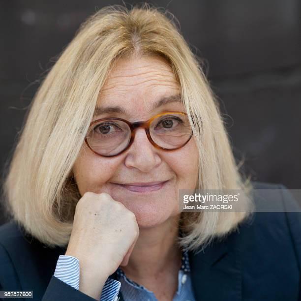 Claire Delannoy directrice littéraire et écrivaine française lauréate du prix Goncourt du premier roman en 2003 ici à l'occasion de la 34e Foire du...