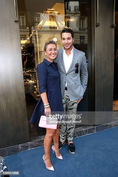 Claire Duroc Danner and Lucas Somoza attend the Opening of the Boutique Buccellati situated 1 Rue De La Paix in Paris on June 8 2016 in Paris France