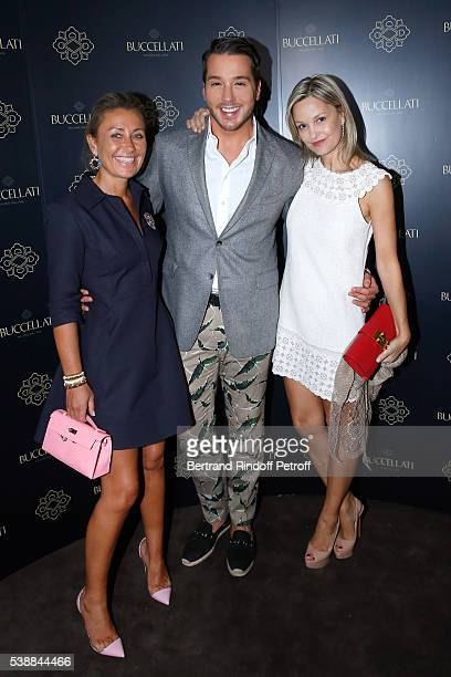 Claire Duroc Danner Lucas Somoza and Marie Saldmann attend the Opening of the Boutique Buccellati situated 1 Rue De La Paix in Paris on June 8 2016...