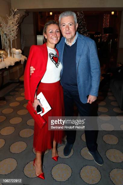 Claire DurocDanner and her husband Bernard DurocDanner attend the Sauvez le Coeur des Femmes Red Defile Show at Hotel Marriot on November 16 2018 in...