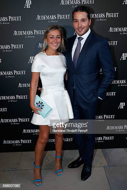 Claire DurocDanner and Lucas Somoza attend the Audemars Piguet Rue Royale Boutique Opening on May 26 2016 in Paris France