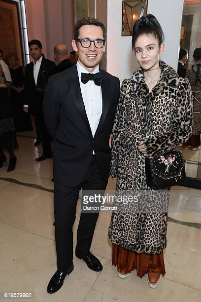 Claire Elise Boucher AKA Grimes and Erdem Moralioglu attend Audemars Piguet Sponsor Of The Harper's Bazarre Women Of The Year Awards 2016 at...
