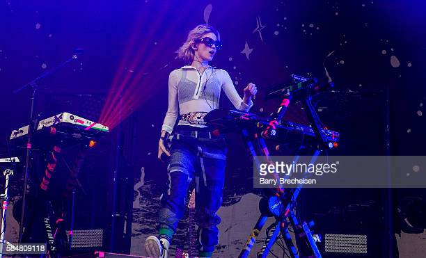 Claire Elise Boucher aka Grimes performs during 2016 Lollapalooza Day Three at Grant Park on July 30 2016 in Chicago Illinois