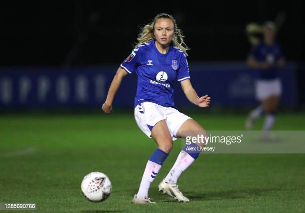 Claire Emslie of Everton Women during the Barclays FA Women's Super League match between Everton Women and Reading Women at Walton Hall Park on...