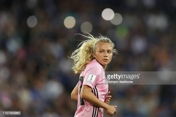 Claire Emslie of Scotland looks on during the 2019 FIFA Women's World Cup France group D match between Scotland and Argentina at Parc des Princes on...