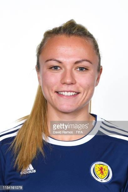 Claire Emslie of Scotland poses for a portrait during the official FIFA Women's World Cup 2019 portrait session at AC Hotel by Marriott Nice on June...