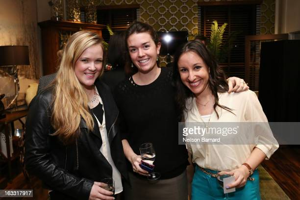 Claire Evans Brenner Stevens and Alana Moskowitz attend the JohnRichard New York flagship showroom opening at the New York Design Center on March 7...