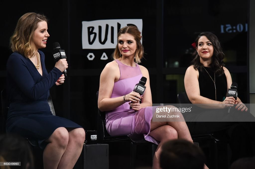 Claire Fallon, Olivia Caridi and Emma Gray attend the Build Series to discuss the season finale of 'The Bachelor' at Build Studio on March 13, 2017 in New York City.