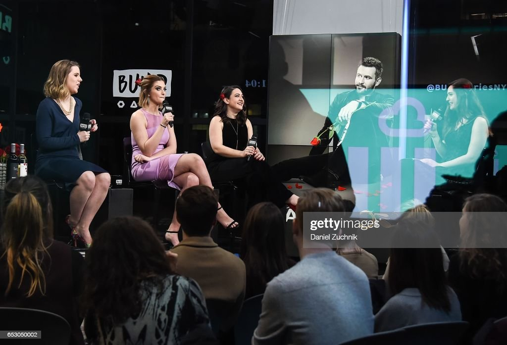 Claire Fallon, Olivia Caridi, Emma Gray and moderator Leigh Blickley attend the Build Series to discuss the season finale of 'The Bachelor' at Build Studio on March 13, 2017 in New York City.