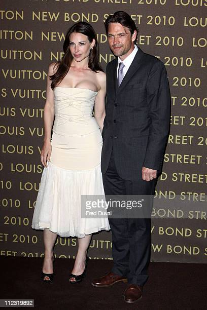 Claire Forlani and Dougray Scott attend the after show party for Louis Vuitton New Bond Street Maison on May 25 2010 in London England