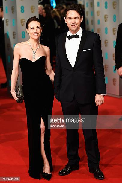 Claire Forlani and Dougray Scott attend the EE British Academy Film Awards at The Royal Opera House on February 8 2015 in London England