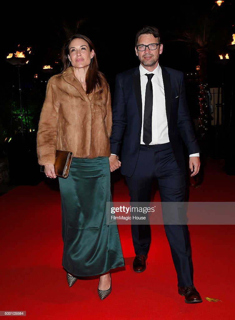 Claire Forlani and Dougray Scott attend the Emeralds & Ivy Ball in aid of Cancer Research UK and the Marie Keating Foundation at Embankment Gardens on December 5, 2015 in London, England.