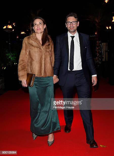 Claire Forlani and Dougray Scott attend the Emeralds Ivy Ball in aid of Cancer Research UK and the Marie Keating Foundation at Embankment Gardens on...