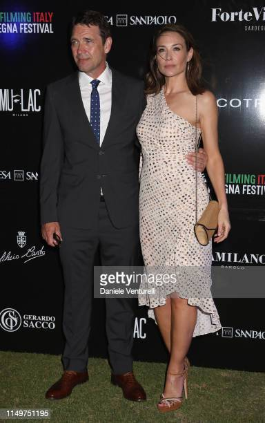 Claire Forlani and Dougray Scott attend the Filming Italy Sardegna Festival 2019 Day 1 at Forte Village Resort on June 13 2019 in Cagliari Italy