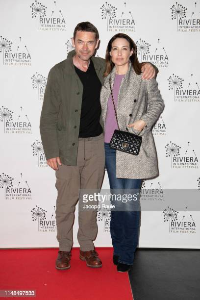 Claire Forlani and Dougray Scott attend the Riviera Film Festival on May 07 2019 in Sestri Levante Italy