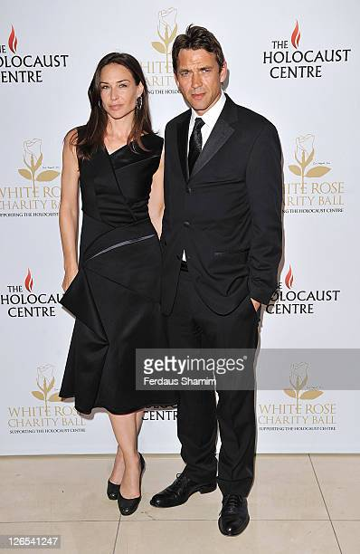 Claire Forlani and Dougray Scott attend the The Inaugral White Rose Charity Ball in aid of The UK Holocaust Centre at Park Plaza Riverbank Hotel on...