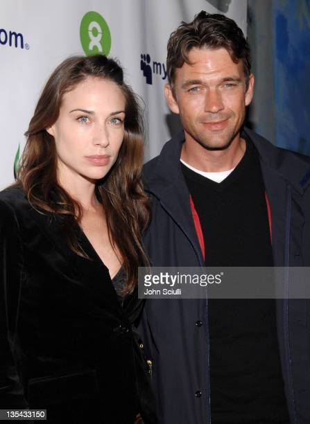 Claire Forlani and Dougray Scott during MySpace Presents Rock for Darfur Party Benefiting Oxfam America at Private Estate in Beverly Hills California...