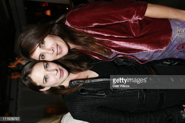 Claire Forlani and Este Stanley during Launch party for Van Cleef Arpels' new collection of Centennial Alhambra jewelry at SKy Bar at The Mondrian...