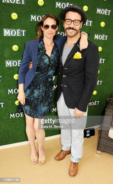 Claire Forlani and Jeremy Piven attend The Moet Chandon Suite at The Aegon Championships Queens Club SemiFinals on June 15 2013 in London England