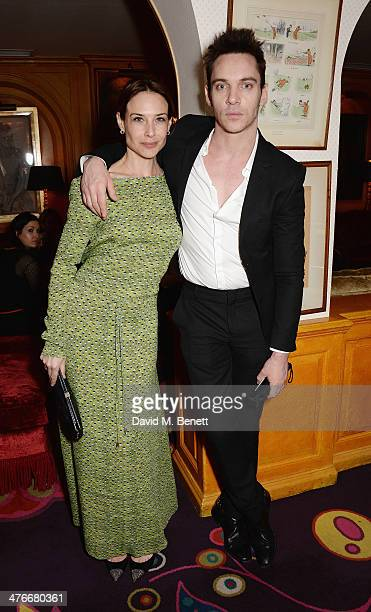 Claire Forlani and Jonathan Rhys Meyers attend a party at Annabel's hosted by Goldie Hawn on March 4 2014 in London England