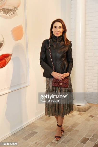 """Claire Forlani attends a private view, dinner and auction of multi-disciplinary artist Lily Lewis' new collection """"Safe Places"""" in partnership with..."""
