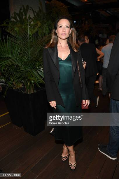 Claire Forlani attends prescreening cocktail reception for the world premiere film Sea Fever at Pick 6ix Sports on September 05 2019 in Toronto Canada