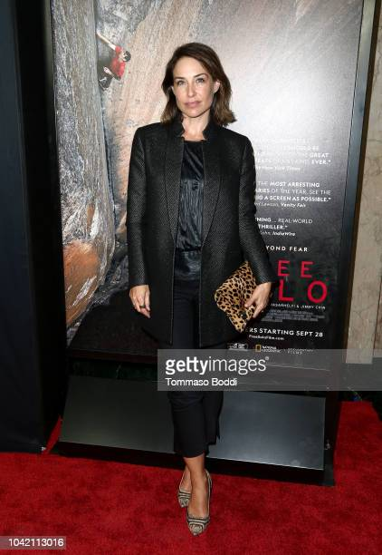 Claire Forlani attends the LA Film Festival gala screening of National Geographic Documentary Films Free Solo at the Wallis Annenberg Center for the...